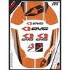 EVS グラフィックキット R4 ネックサポート用 マルティニ/オレンジ ADULT