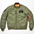 ALPHA ◆送料無料◆ALVA-1611W M/C MA-1 ジャケット