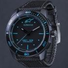 【7-8月入荷見込み】TECH WATCH 3H BLACK/BLUE - BLACK NYLON STRAP