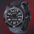alpinestars TECH WATCH 3H BLACK SILICON STRAP